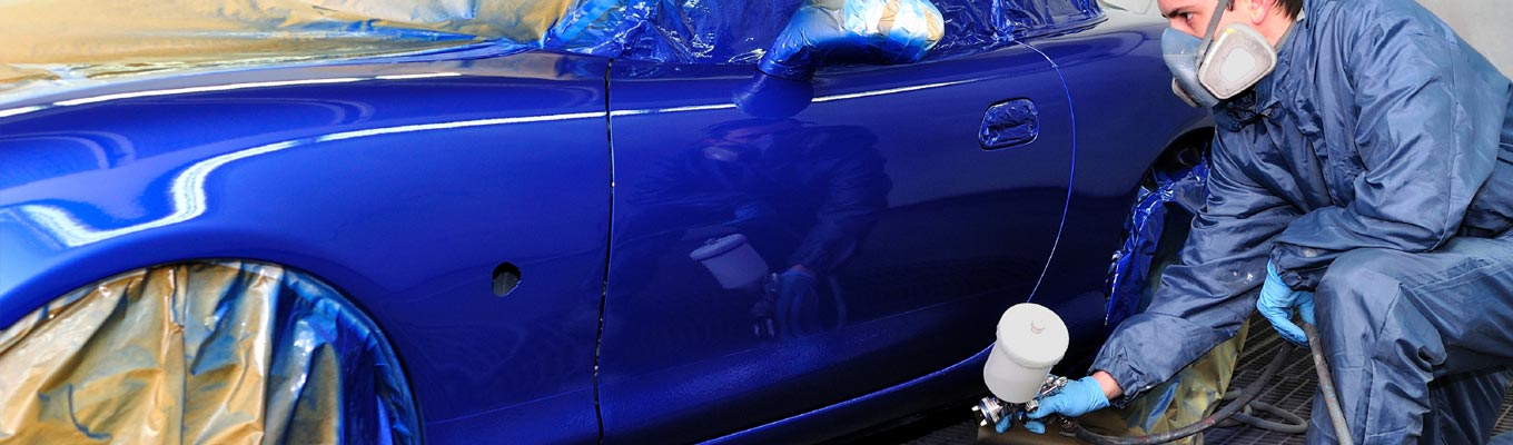 Electric Blue Metallic Car Paint